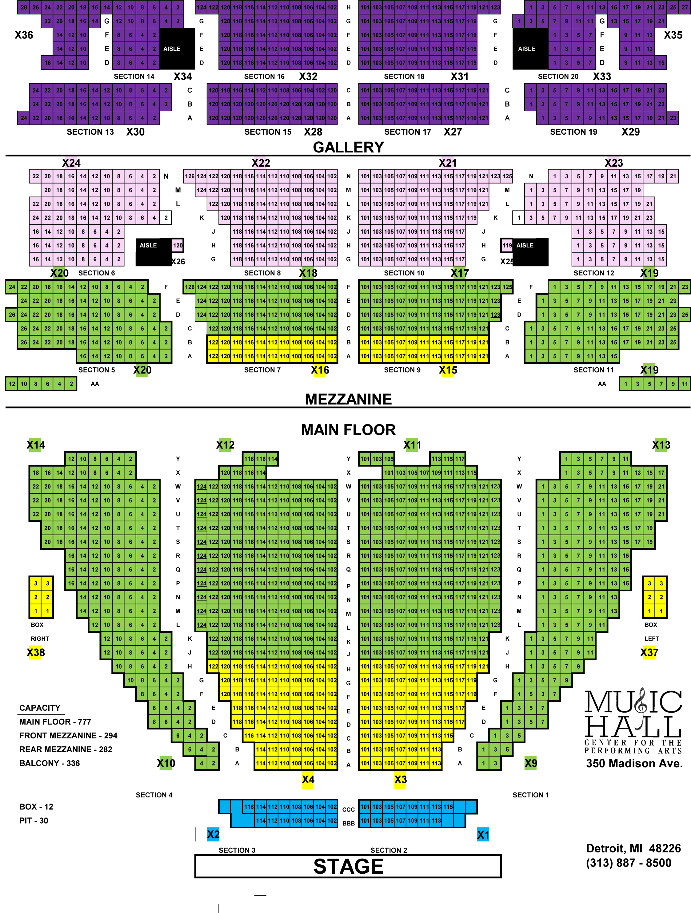 Private Events Music Hall Seating Chart